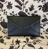 Self Finishing Flat Leather Clutch