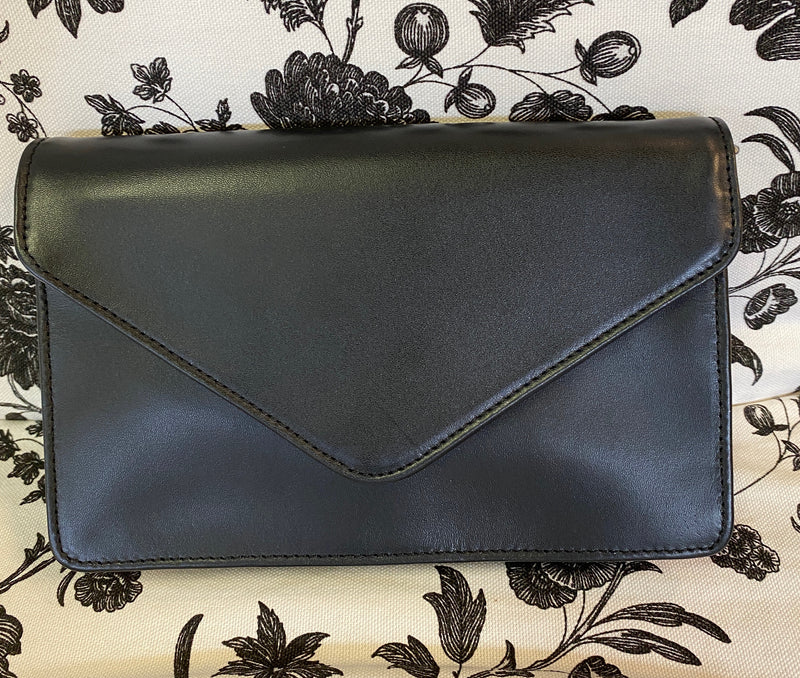 Self Finishing Gusseted Leather Clutch