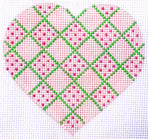 Heart - Pink Diamond with stitch guide