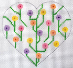 Heart - Flowers with stitch guide