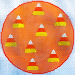 Candy Corn Coaster/Ornament