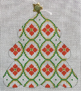 Poinsettias Tree w/ Stitch Guide