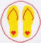 Flip Flop Coaster Yellow