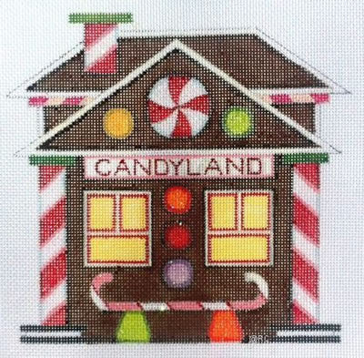 Candyland Train Depot - BeStitched Needlepoint