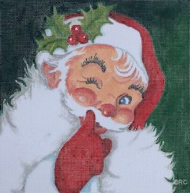 Santa Whisper - BeStitched Needlepoint