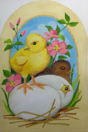 Chicks And Eggs - BeStitched Needlepoint