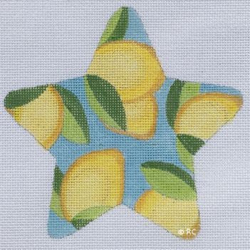 Lilly Inspired Lemon Print Star