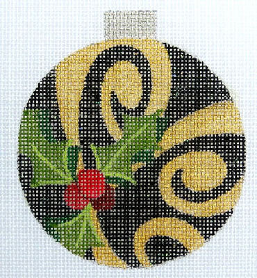 Black Ornament - BeStitched Needlepoint