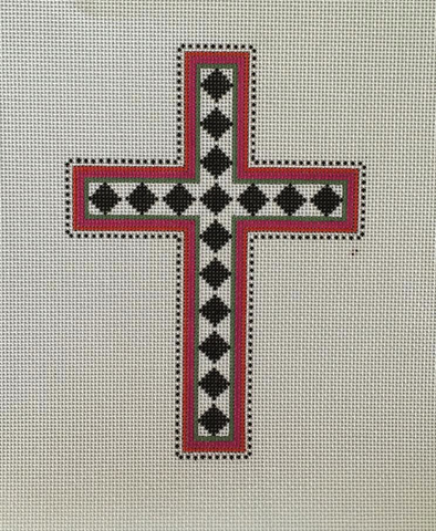 Black Diamond Cross - BeStitched Needlepoint