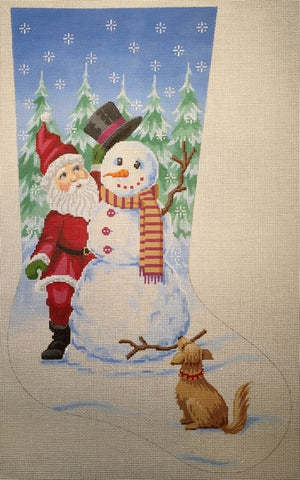 Santa and Snowman Stocking