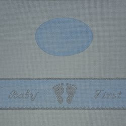 Babies First Blue Oval Hinged Box w/Hardware