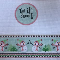 Let It Snow Round Hinged Box w/Hardware