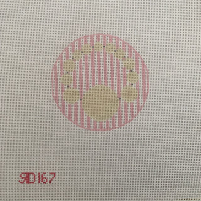 Pearls Monogram Round
