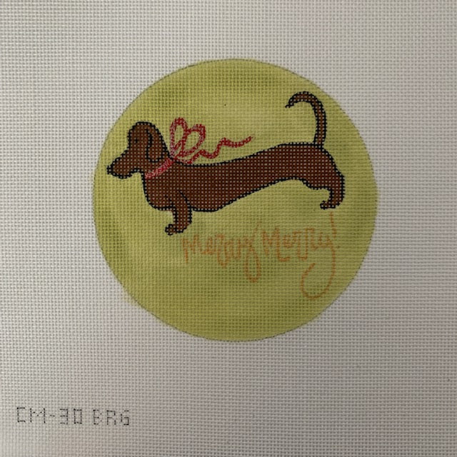 CM-30BRG  Brown dachshund gold