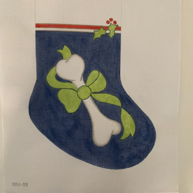 RRS08 Laurie Dog Stocking (blue)