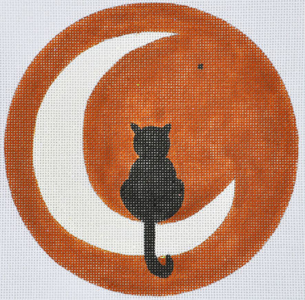 JC-11 - Moon Pie Kitty (includes stitch guide by Janet Casey)
