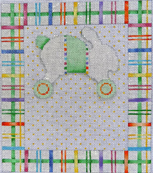 Baby Sampler Bunny/Wheels Plaid