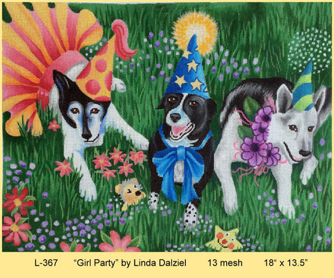 Girl Party - BeStitched Needlepoint