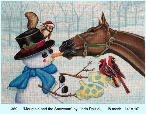Mountain and the Snowman - BeStitched Needlepoint