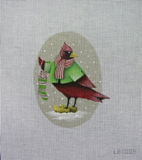 Cardinal with Stocking
