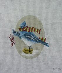 Blue Jay with Stocking