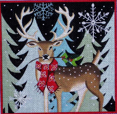 Deer with Holiday Berries M-1601