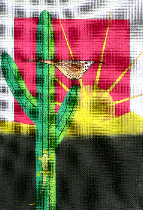 Cactus Wish - BeStitched Needlepoint