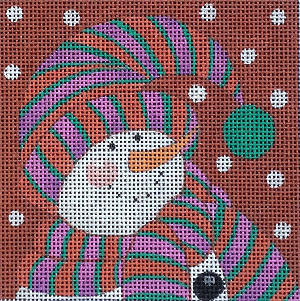 Bundled Snowman 2 - BeStitched Needlepoint