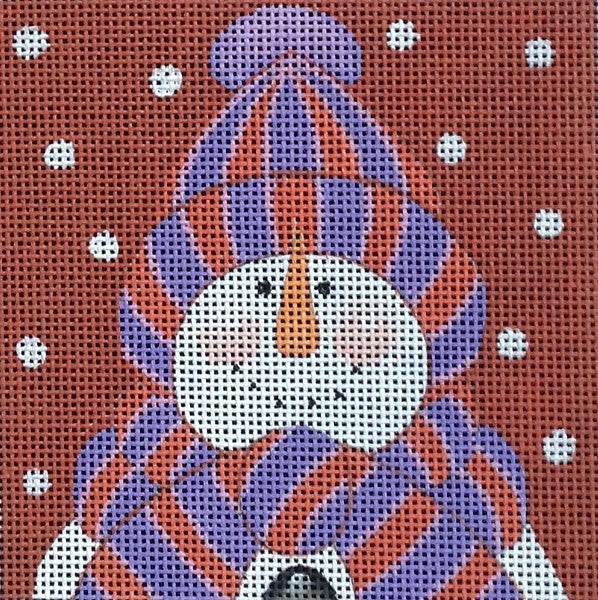Bundled Snowman 3 - BeStitched Needlepoint