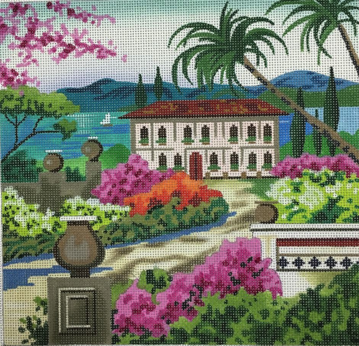 Garden Retreat on the Lake - BeStitched Needlepoint