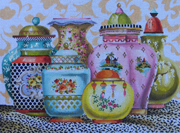 Oriental Vases - BeStitched Needlepoint