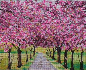 Blooming Tree alley - BeStitched Needlepoint