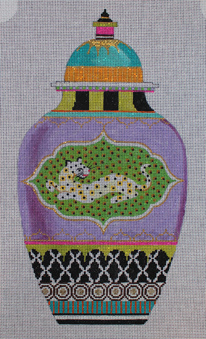 Urn/Tiger - BeStitched Needlepoint