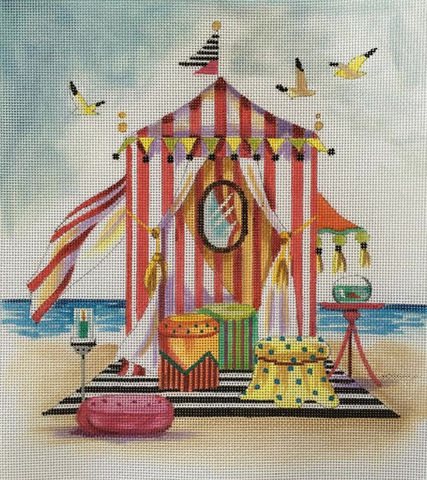 Beach Tent - BeStitched Needlepoint