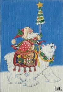 Polar Santa with background