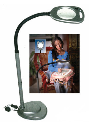 Mighty bright floor lamp bestitched needlepoint aloadofball Image collections