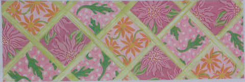 Lily Inspired Lattice Patchwork Pinks and Greens