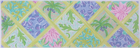 Lilly Inspired Lattice Patchwork Blue & Greens