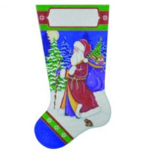 Old World Santa with Bunny Stocking