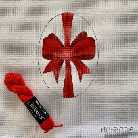 HO2039 - Red Bow Oval