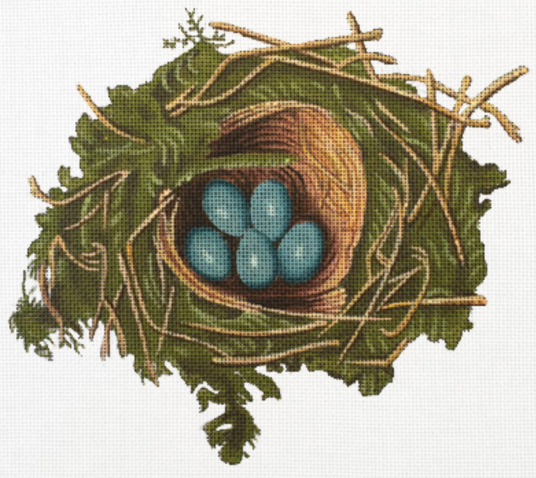 2073 - Nest/Blue Eggs
