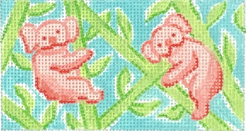 INSPWR-32 - Lilly Inspired Koalas in Bamboo – corals, greens & aqua