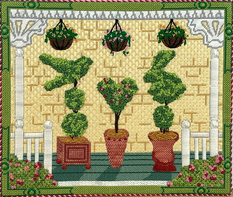 PL-406 - American Front Porch w/ Topiaries - Spring