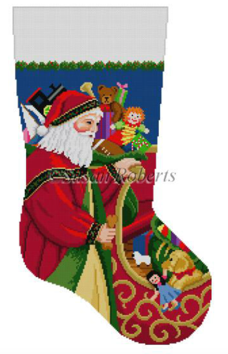 0135 - Santa At Sleigh, stocking