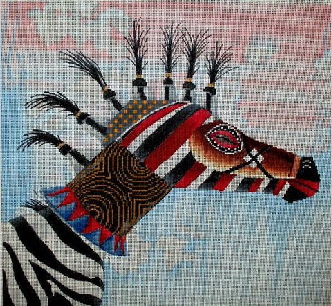Tribal Mask - Zebra