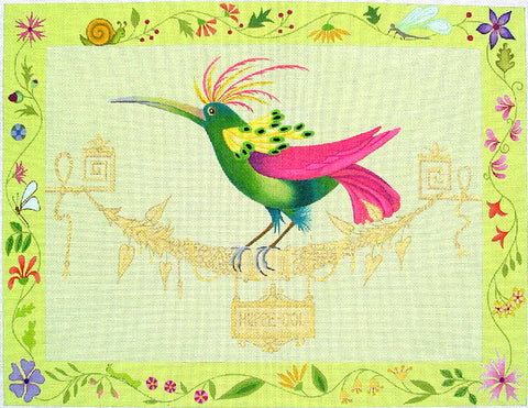 Huppe Bird Framed - BeStitched Needlepoint