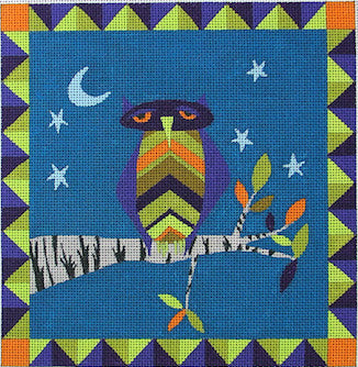 Matchy Owl - BeStitched Needlepoint