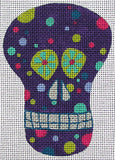 Mini Sugar Skull #4 w/ ribbon