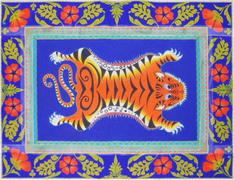 Tiger Rug with Borders