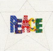 """Peace"" Star Ornament ab191"